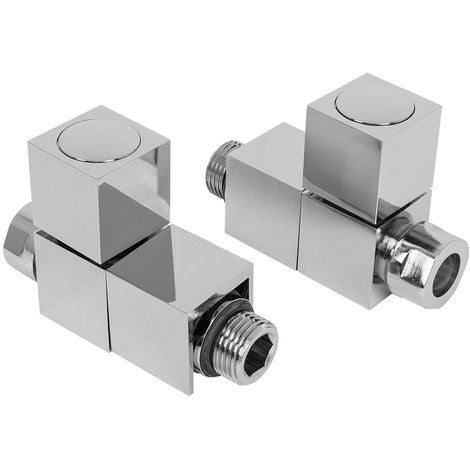 Chrome Heated Bathroom Towel Rail Radiator Valves Taps