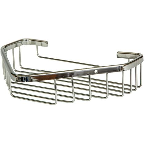 Chrome Large Corner Basket