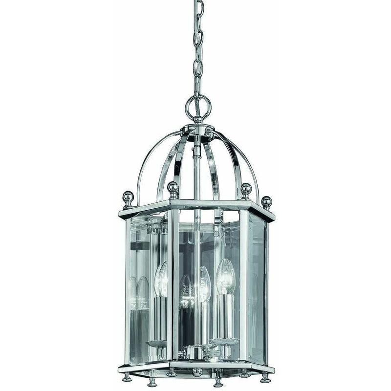 Image of 15-franklite - Chrome pendant light Madison 3 Bulbs