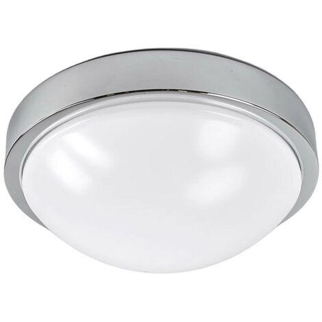 Chrome-plated bathroom ceiling lamp Elucio, IP44