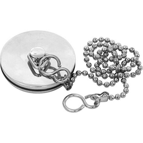 Chrome Plated Brass Bath Plug And Ball Chain