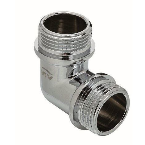 """Chrome Plated Brass Male Elbow Pipe Fitting Connection MxM 3/8"""""""