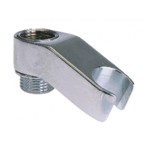Chrome-plated hand-held shower head mount