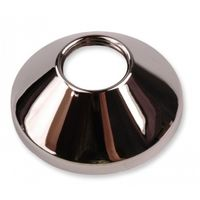 "Chrome Plated Steel Pipe Cover Collar Cone 3/4"" Valve Tap Rose 20mm Height"