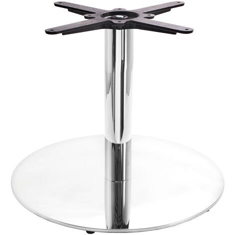 Chrome Round Table Base - Large - Coffee height - 450 mm