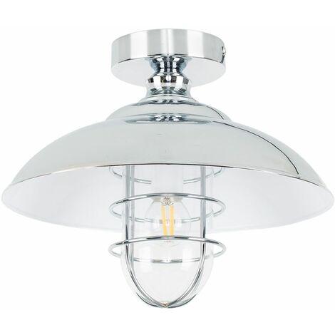Chrome Semi Flush Ceiling Light