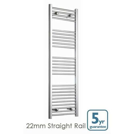 Chrome Straight 600 x 750 Heated Towel Rail Warmer Radiator Rad 25mm D Rail