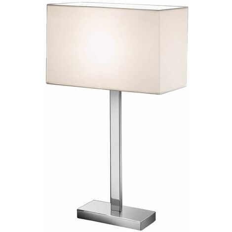 Chrome table lamp 1 Bulb Height 63 Cm