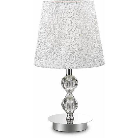 Chrome table lamp LE ROY 1 bulb