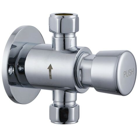 Chrome Timed Non Concussive Exposed Shower Valve Self Closing Gym Pool Schools