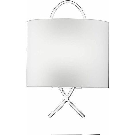 Chrome Wall Light 1 Bulb Height 39 Cm