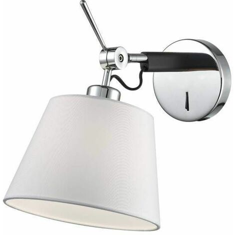 Chrome Wall Light 1 Bulb Width 20 Cm