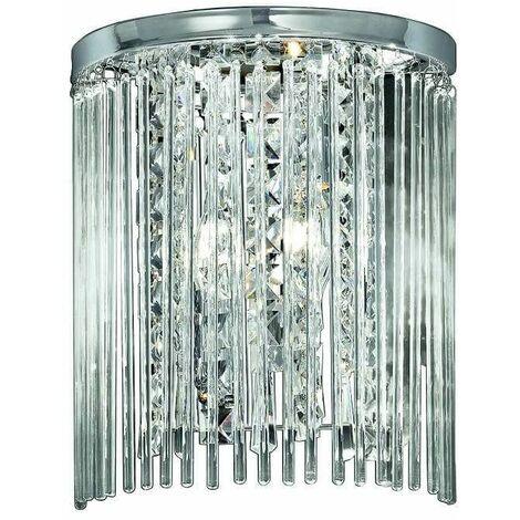 Chrome wall light 2 Bulbs Width 25 Cm