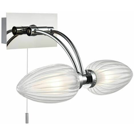 Chrome wall light for bathroom 1 Bulb Width 29 Cm