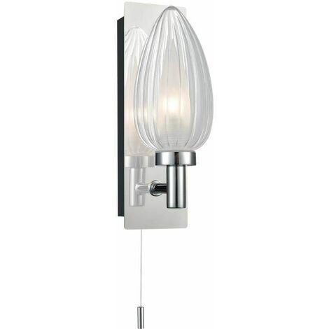 Chrome wall light for bathroom 1 Bulb Width 6 Cm