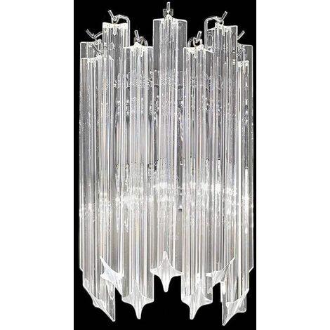 Chrome wall light in crystal Valentina 2 bulbs