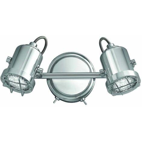 Chrome Wall Light Studio 2 Bulbs