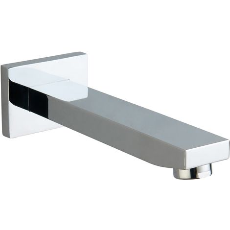 Chrome Wall Mounted Narrow Bath Spout