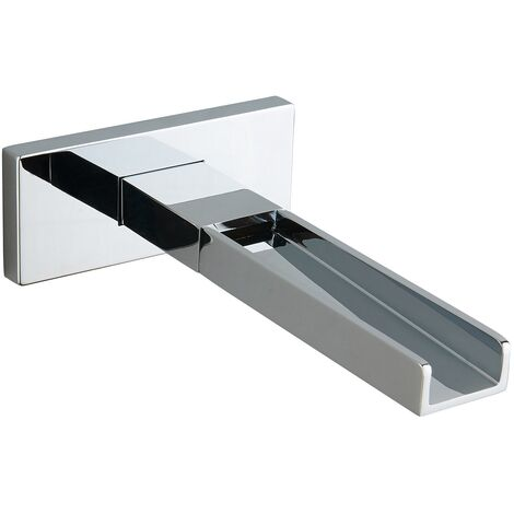 Chrome Wall Mounted Narrow Waterfall Bath Spout