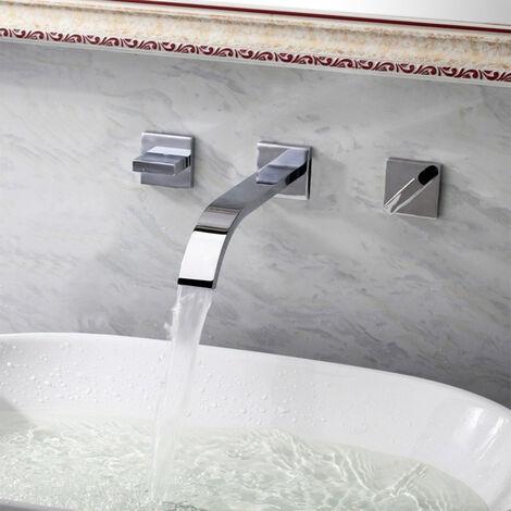 """main image of """"Chrome wall mounted waterfall mixer tap - Santa Maria"""""""