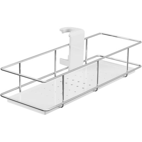 Chrome & White Riser Rail Shower Caddy