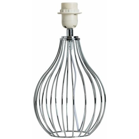 Chrome Wire Basket Table Lamp Base