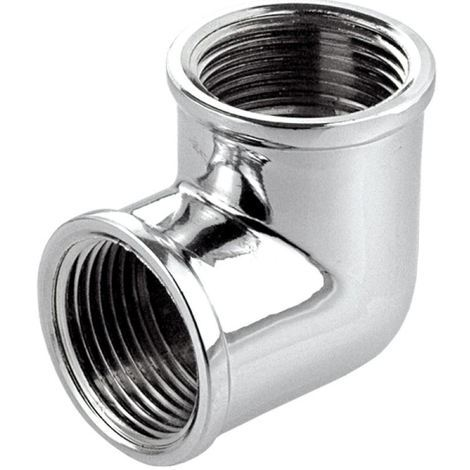 Chromed Brass Elbow 1/2 x 3/8 BSP Female Reducing Bush Adapter Thread Reducer