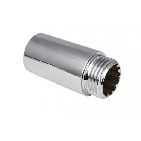 Chromed chrome extension 1/2 l-15mm connector ch,