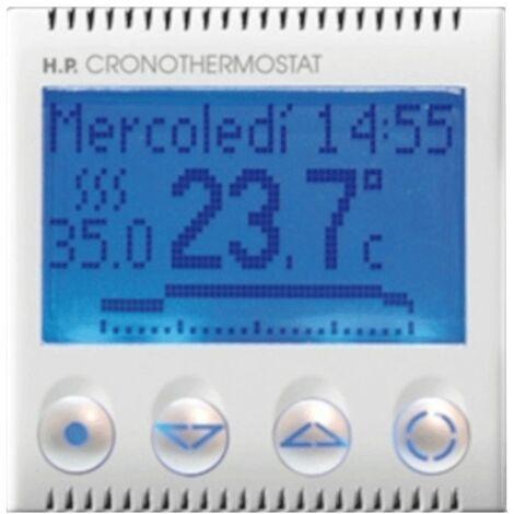 Chronothermostat semanal Ave Domus Sistema 44 retroiluminada 441CRT