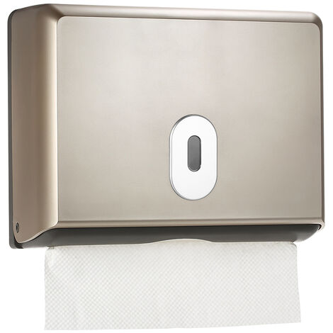 CHUANGDIAN wall-mounted tissue box, for hotel toilet,Champagne gold,