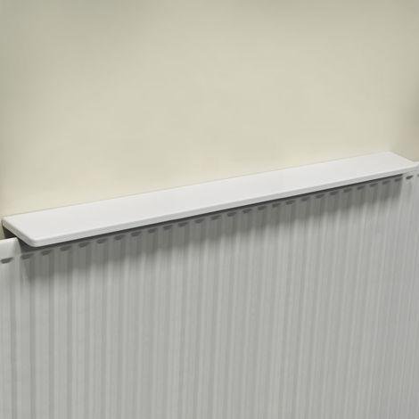 Chunky Gloss Over Radiator Shelf 120cm / 4ft - White
