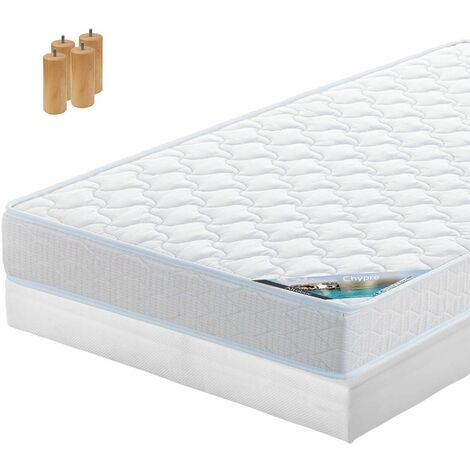 Chypre - Pack Matelas + Tapissier 120x190 + Pieds