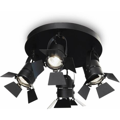 CIAK black ceiling light 4 bulbs