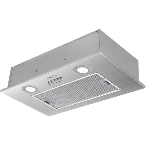 CIARRA 52cm Integrated Cooker Hood with 3-speed Extraction-913ASS52 - Black