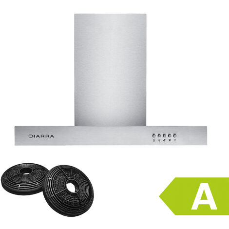 CIARRA 60cm Wall Mount Cooker Hood with 3-speed Extraction-125SS60