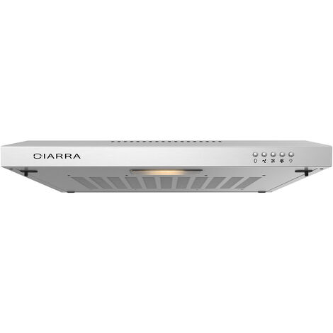 """main image of """"CIARRA 903SS60 60cm Under Cabinet Cooker Hood 3 Speeds Stainless Steel Extractor Fan - Black"""""""