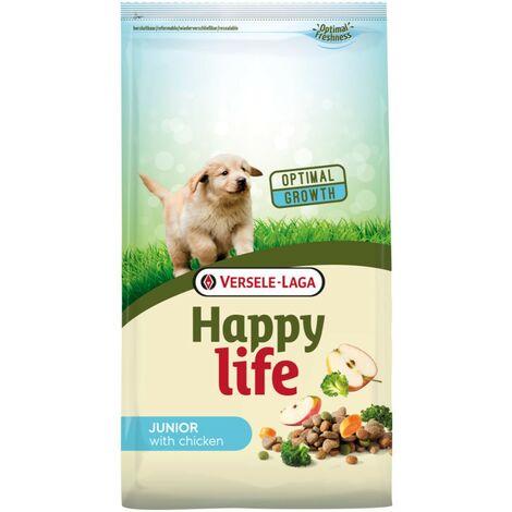 cibo per cani Happy Life con pollo Junior   Versele Laga nutrire i cuccioli   Cibo per cani 10kg