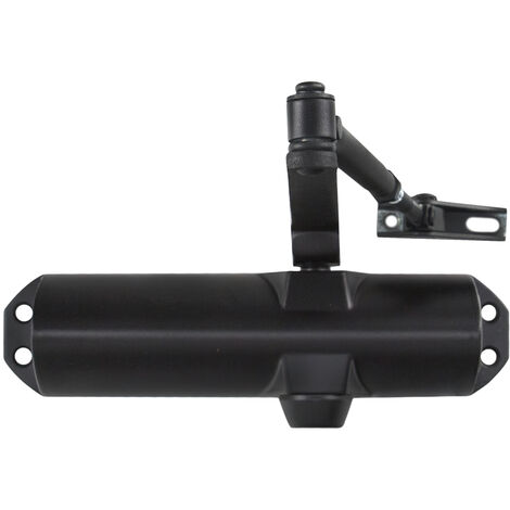 Cierra puertas con retenedor fuerza 4. color negro (puertas 90/120 cm.)