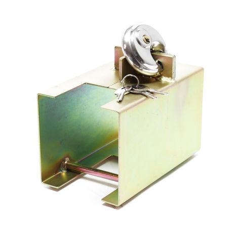 Cierre para remolque Protección antirrobo para enganche de remolque Caja de bloqueo 2 llaves Candado