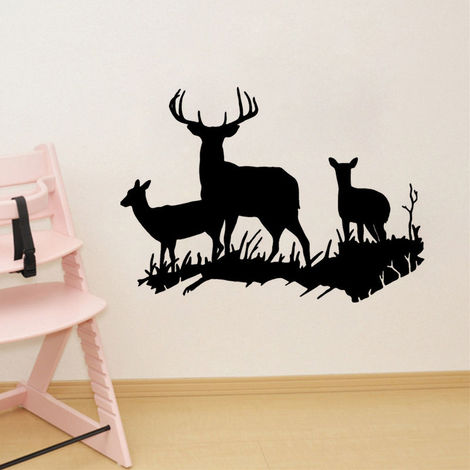 Ciervo extraíble Animal Mural Pegatinas de pared Calcomanía Mural Arte de la pared Papel pintado Niños Home Room Decor Dormitorio Accesorios LAVENTE