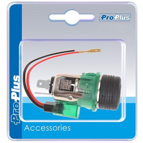 Cigarette lighter flush mount socket with lighting 12V in blister