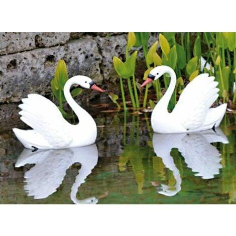 Cigno cignotto galleggiante ornamentale in plastica resina decorazione giardino