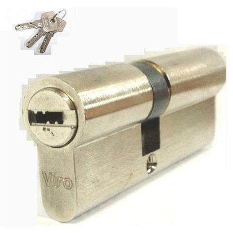 """main image of """"Cilindro da infilare di sicurezza nickel 70 mm 30/40 VIRO Art. 0885.03"""""""
