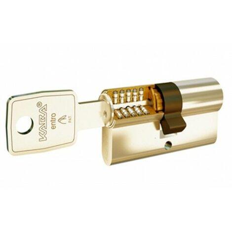 Cilindro de seguridad 30 x 40 en niquel leva larga con doble embrague y refuerzo LAM