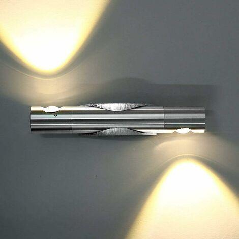 Cilindro Luz de Pared LED Moderno Lámpara de Pared Creativa Aplique de Pared Nórdico Ajustable para Entrada de Pasillo de Cabecera Blanco Cálido