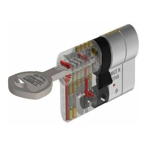 Cilindro Seguridad 30X30Mm T70 Laton Leva Larga Tesa 1