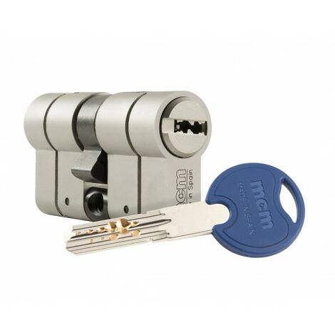 Cilindro Seguridad 30X50Mm Mcm Niq Scxplus Dob.Embr. Scx+Den:30-50