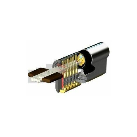 Cilindro Seguridad 30X50Mm Tk100 Niquel Leva larga Tesa