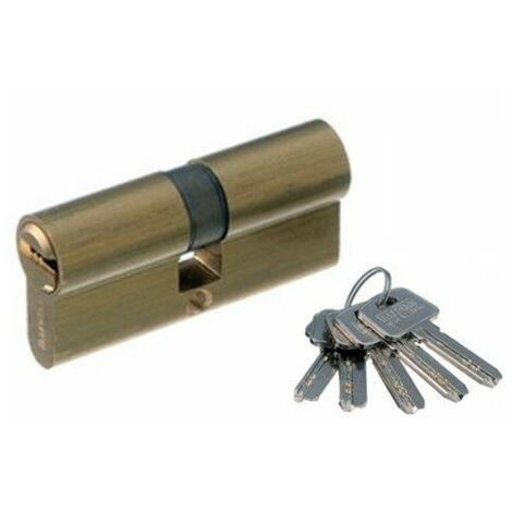 Cilindro Seguridad 33,5X33,5Mm Ss:33-33 Laton Leva larga Mcm