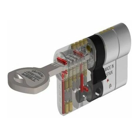 Cilindro Seguridad 35X35Mm T70 Laton Leva larga Tesa 1